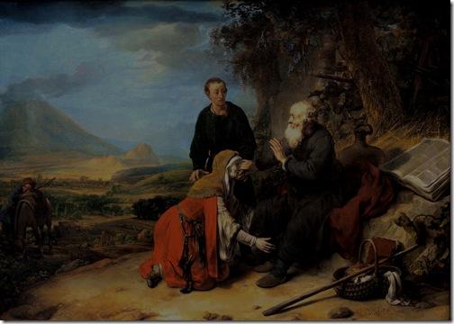 Prophet Elisha and the woman of Shunem (De profeet Elisa en de Sunamitische vrouw / Elizeus próféta és a súmeni asszony), 1664, Gerbrand van den Eeckhout