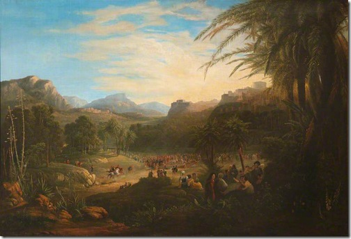 The Entry of Christ into Jerusalem, 1800-1845, circle of Samuel Colman