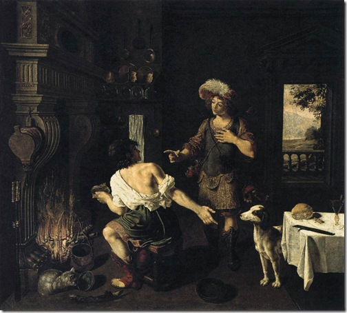 Esau and Jacob (Ésaü et Jacob), 1630, Michel Corneille the Elder