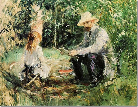 Eugène Manet and his Daughter in the Garden, 1883, Berthe Morisot