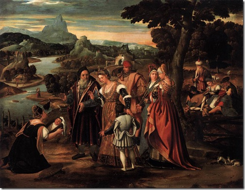 Finding of Moses, 1540s, Stefano Cernotto