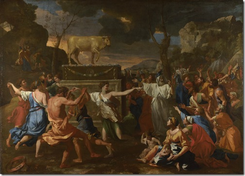 The Adoration of the Golden Calf, c. 1634, Nicolas Poussin