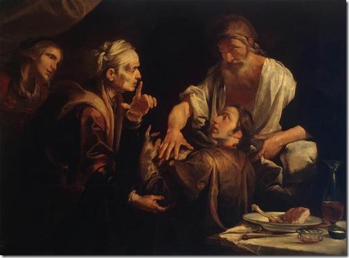 Isaac Blessing Jacob, 1640s, Gioacchino Assereto