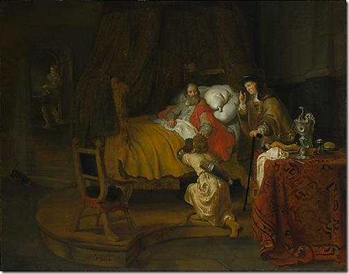 Isaac Blessing Jacob, 1642, Gerbrand van den Eeckhout