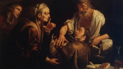Isaac Blessing Jacob, 1640s, Gioacchino Assereto