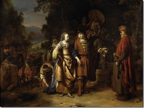 Isaac and Rebecca (Isaak en Rebecca), 1665, Gerbrand van den Eeckhout