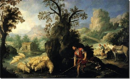 Jacob Laying Peeled Rods before the Flocks of Laban (Jacob pone las varas al ganado de Labán), 1660-1665, Bartolomé Esteban Murillo