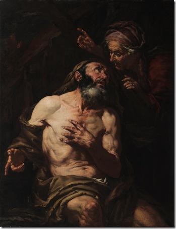Job Cursed by His Wife, Giovanni Battista Langetti