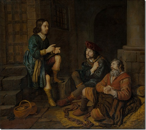 Joseph explains the baker and butler their dreams (Jozef legt de bakker en de schenker hun dromen uit), 1648, Jan Victors
