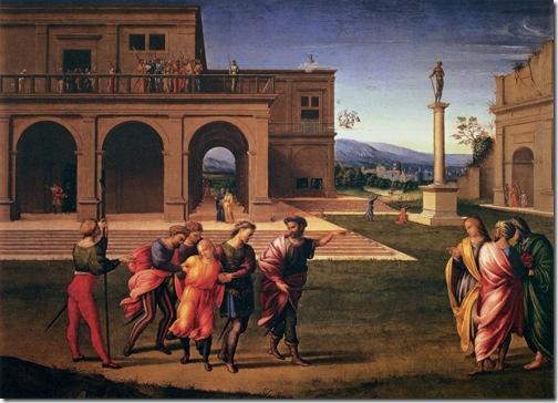 Joseph Conducted to Prison (Giuseppe condotto in carcere / Giuseppe arrestato e messo in carcere), c. 1515, Francesco Granacci