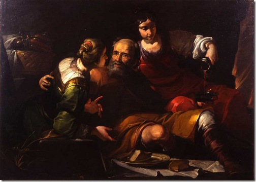 Lot and His Daughters, 1630s, Gioacchino Assereto