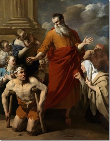 St Paul Healing the Cripple at Lystra (Paulus geneest de kreupele te Lystra), 1663, Karel Dujardin