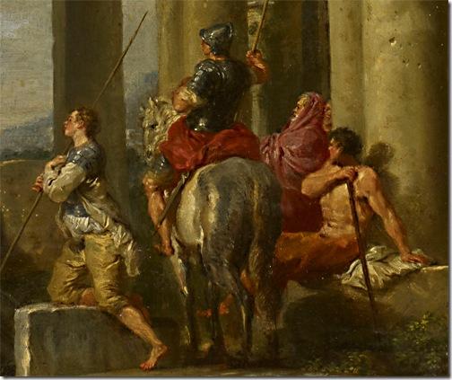 Detail: Saint Paul's Preaching, 1731, Giovanni Paolo Pannini