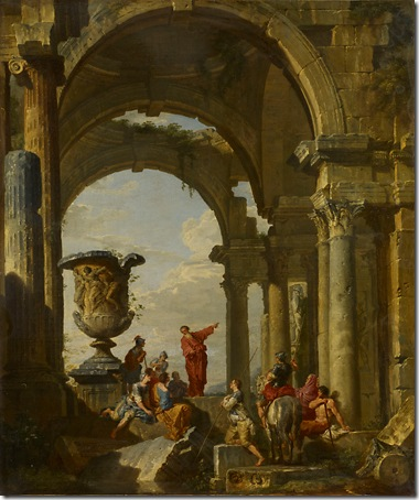 Saint Paul's Preaching, 1731, Giovanni Paolo Pannini