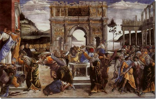 Conturbation of the Laws of Moses: The Punishment of Korah, Dathan and Abiram, 1481-1482, Sandro Botticelli