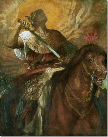 The Four Horsemen of the Apocalypse: The Rider on the Red Horse, c. 1882, George Frederick Watts