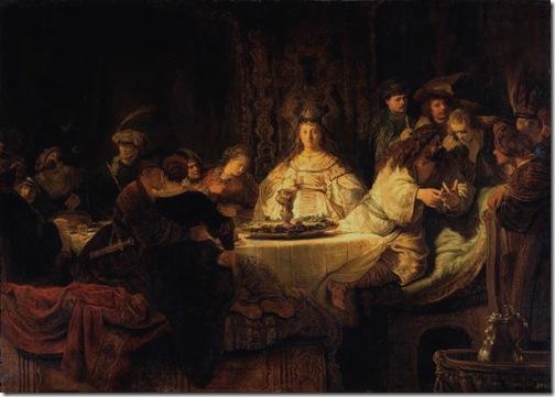 Samson Tells a Riddle at His Feast (Samson tells the riddle at the wedding table / Samson's Wedding / The Wedding Feast of Samson/ Le Mariage de Samson / Simsons Hochzeit), 1638, Rembrandt van Rijn