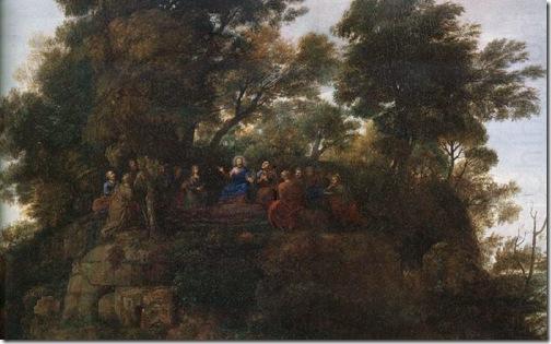 DETAIL: The Sermon on the Mount, c. 1656, Claude Lorrain