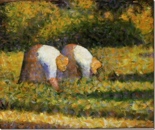 Paysannes au travail (Farm Women at Work), 1882–83, Georges Seurat