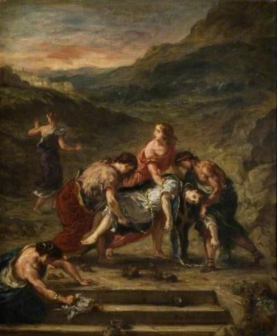 St. Stephen Borne Away by his Disciples, 1862, Eugène Delacroix