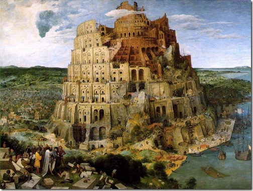 The Tower of Babel (Turmbau zu Babel / Вавилонская башня), 1563, Pieter Bruegel the Elder