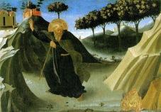 """Santo Antão e a Tentação do """"Vil Metal"""" – Fra Angelico"""