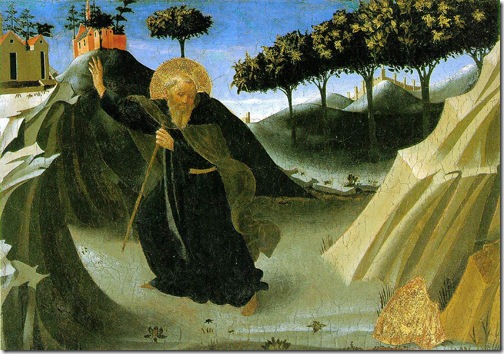 Saint Anthony the Abbot Tempted by a Lump of Gold, ca. 1436, Fra Angelico