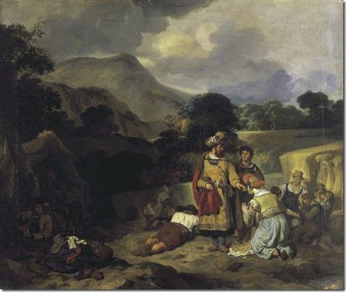 Boaz and Ruth (Boas und Rut), 1651, Gerbrand van den Eeckhout