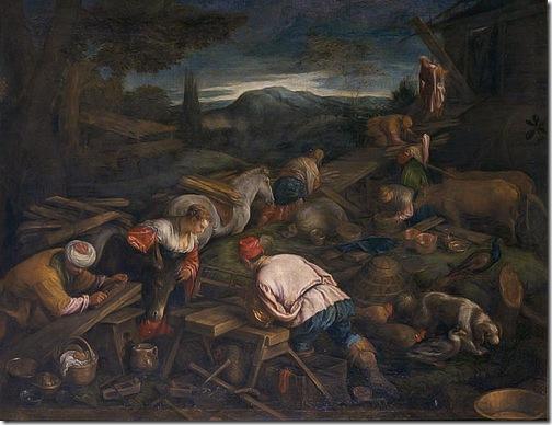 The Construction of the Ark (La Construction de l'Arche / L'atelier de construction), second half 16th century, attributed to Francesco Bassano