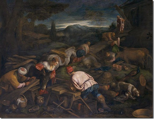 The Construction of the Ark (La Construction de l'Arche / L'atelier de construction), second half 16th century, attributed to Francesco Bassano