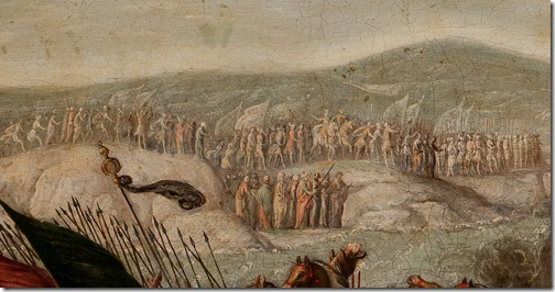 DETAIL: The Israelites Crossing the Red Sea (The Parting of the Red Sea / El Paso del Mar Rojo), 1630-60, circle of Juan de la Corte