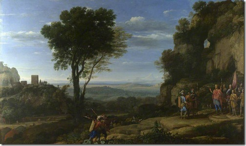 Landscape with David at the Cave of Adullam, 1658, Claude Lorrain