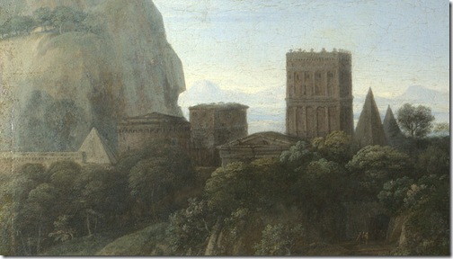 DETAIL: Landscape with David at the Cave of Adullam, 1658, Claude Lorrain