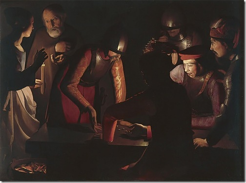 The Denial of Saint Peter (Le Reniement de Saint Pierre), 1650, Georges de la Tour