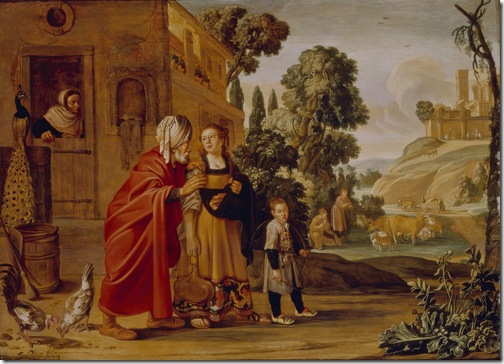 The Departure of Hagar (The expulsion of Hagar / L'expulsion d'Hagar / De verstoting van Hagar en Ismaël), 1614, Jan Pynas