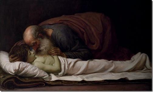 Elisha Raising the Son of the Shunammite, 1881,  Frederic Leighton