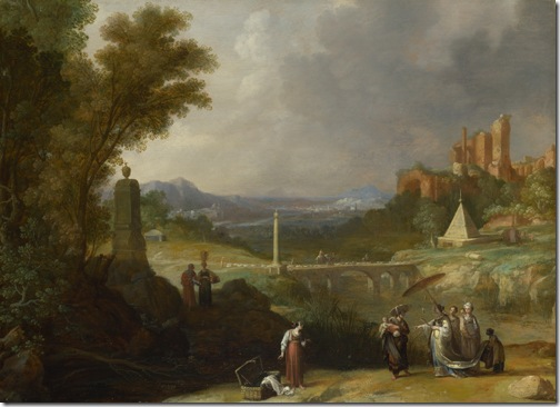 The Finding of the Infant Moses by Pharaoh's Daughter, 1636, Bartholomeus Breenbergh