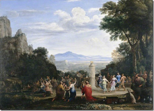 The Adoration of the Golden Calf, 1660, Claude Lorrain