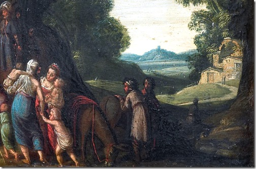 DETAIL: The meeting of Jacob and Esau (De ontmoeting van Jacob en Ezau), ca. 1610-1620, Jan Pynas