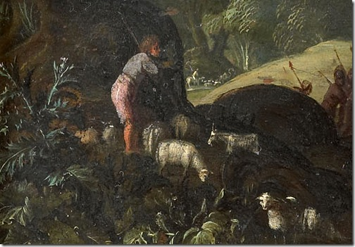 DETAIL: The meeting of Jacob and Esau (De ontmoeting van Jacob en Ezau), ca. 1610-1620, Jan Pynas