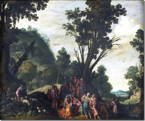 The meeting of Jacob and Esau (De ontmoeting van Jacob en Ezau), ca. 1610-1620, Jan Pynas