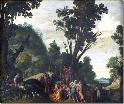 The meeting of Jacob and Esau (De ontmoeting van Jacob en Ezau), ca. 1610-1620, Jan Pynas