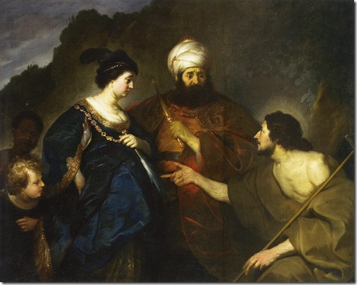 John the Baptist Accusing Herod and Herodias (Johannes de Doper berispt Herodes en Herodias), 1633, Jacob Backer