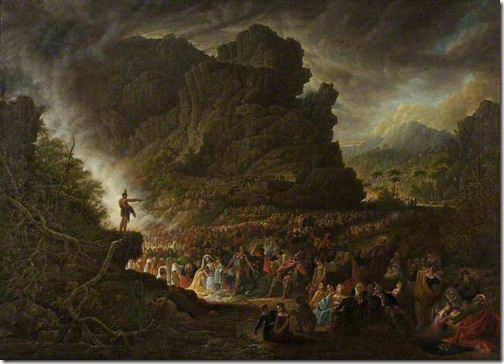 Saint John Preaching in the Wilderness, 1821, Samuel Colman