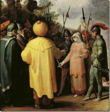 DETAIL: Judah and Tamar (Juda en Tamar), 1596, Cornelis Cornelisz. van Haarlem