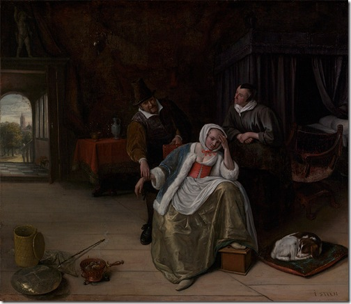 The Lovesick Maiden, ca. 1660, Jan Steen