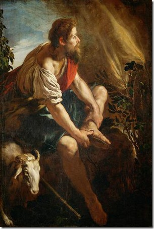 Moses before the Burning Bush (Moses vor dem brennenden Dornbusch), 1613-1614, Domenico Fetti