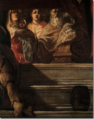 DETAIL: The Presentation of Christ in the Temple (Presentazione di Gesù al Tempio), ca. 1550-55, Tintoretto