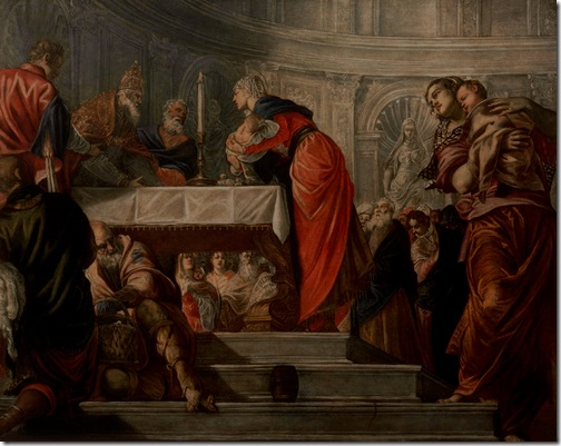 The Presentation of Christ in the Temple (Presentazione di Gesù al Tempio), ca. 1550-55, Tintoretto
