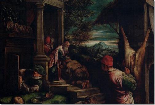 DETAIL: The Return of the Prodigal Son (Le Retour du Fils Prodigue / l'Enfant Prodigue), 1574-1577, Jacopo Bassano